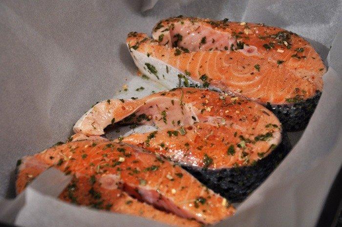рыбные стейки в духовке рецепты с фото