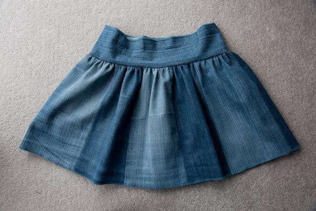 Детская джинсовая юбка своими руками