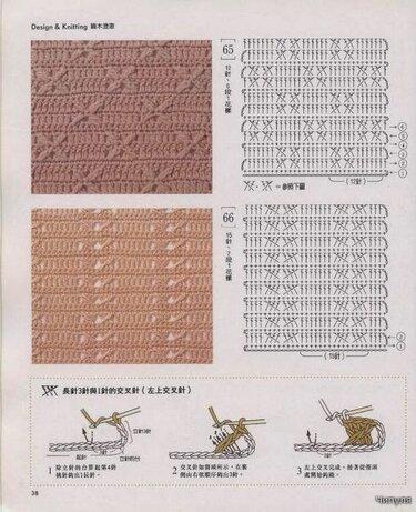 крючком схемы плотных узоров