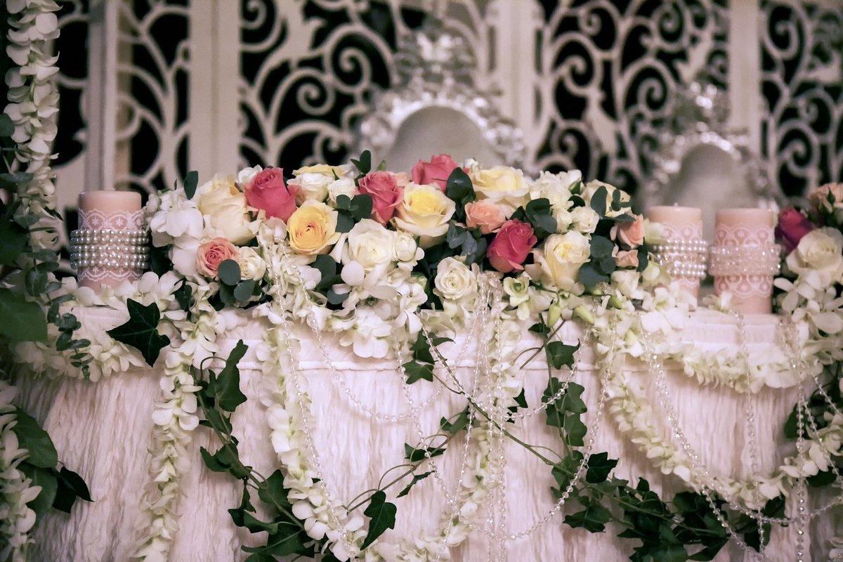 чисто символически цветы в зале торжеств фото мастер тоже оригинально