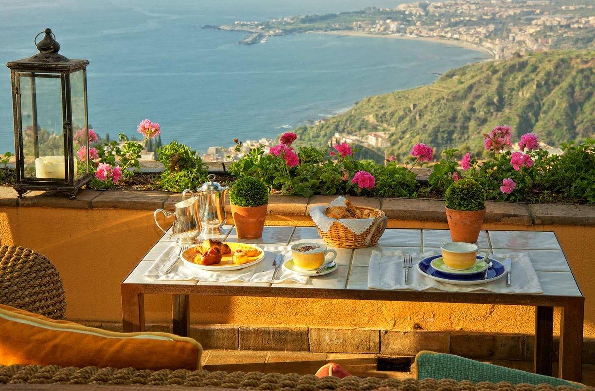 Открытки доброе утро море горы, картинки музыкальные слоган