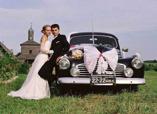 Автомобиль на свадьбе в стиле Прованс