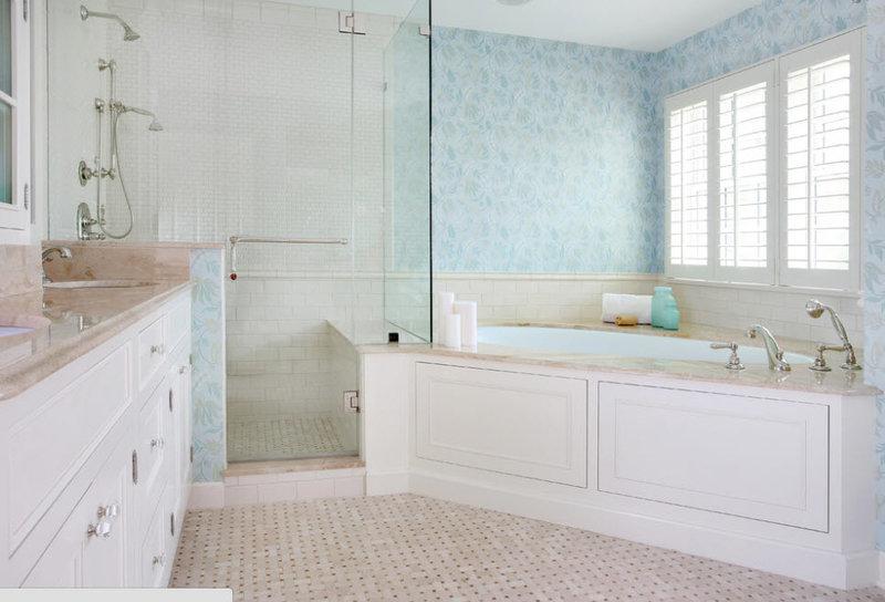 Дизайн ванной комнаты с угловой ванной фото. Современные идеи оформления большой и маленькой ванной комнаты. Где лучше поставить ванну: примеры интерьера.
