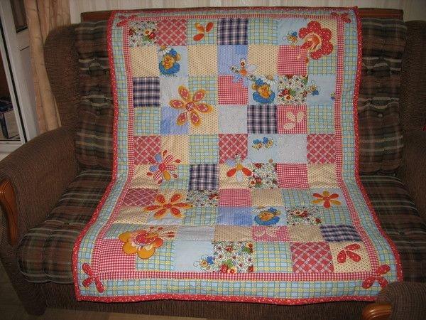 Одеяло с цветами