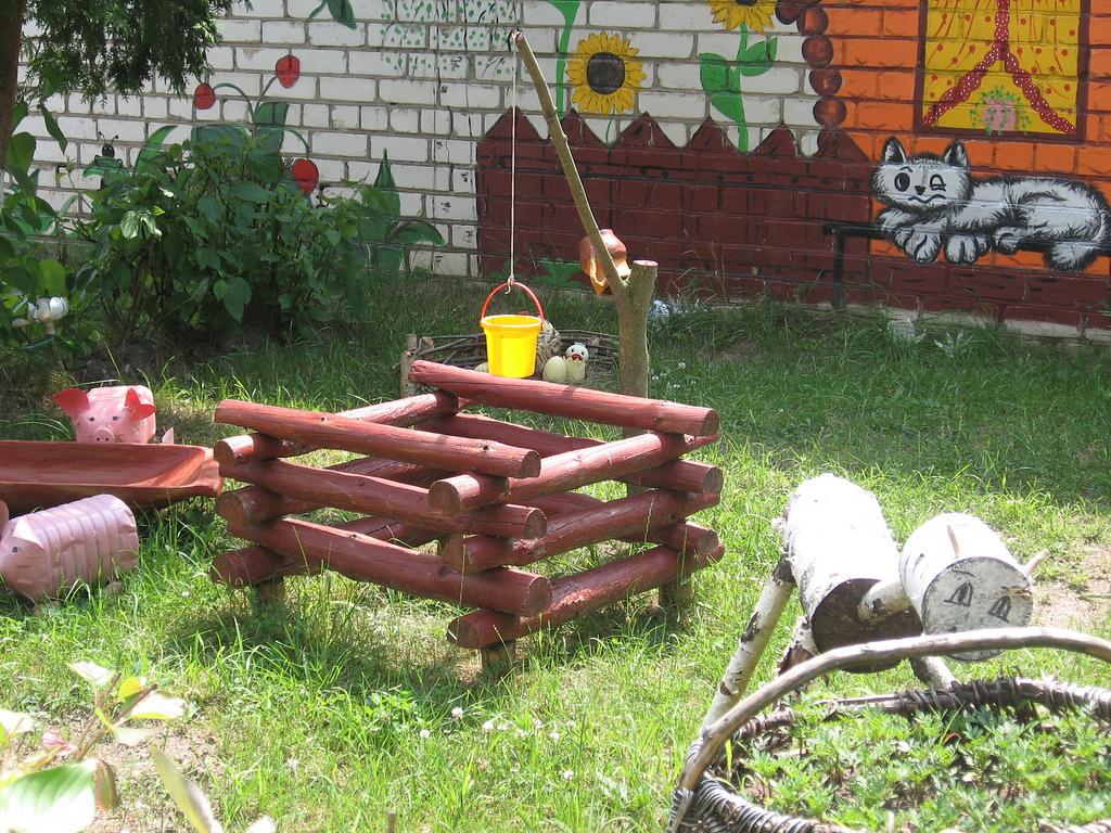 Площадка для сада своими руками