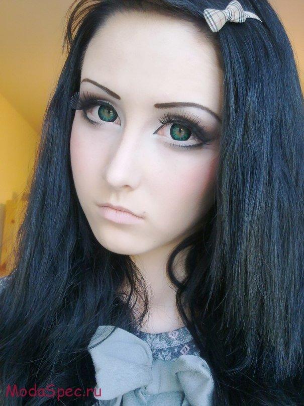 фото пошаговое макияж куклы