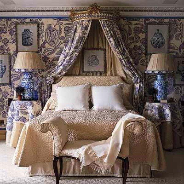 Викторианский стиль в оформлении спальни