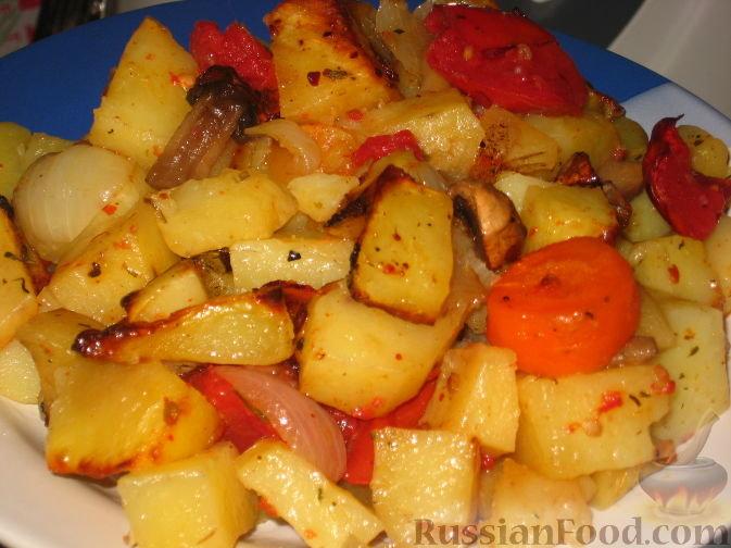 Картошка в духовке с морковью рецепт пошагово