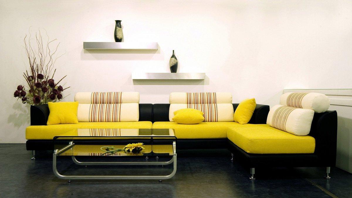 Сочетание цветов в мягкой мебели фото