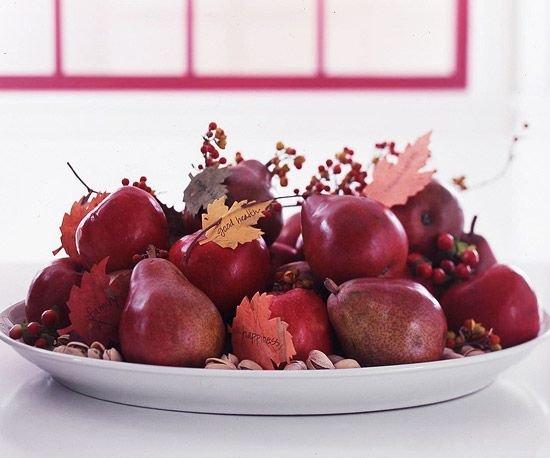 Осенние фрукты в декоре свадьбы