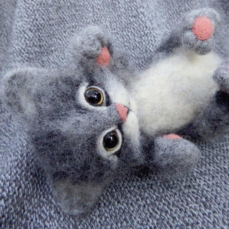 Поделки из кошачьей шерсти фото