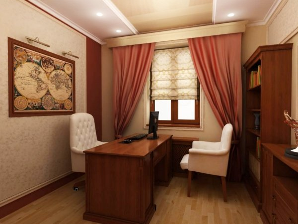 просторный кабинет дома