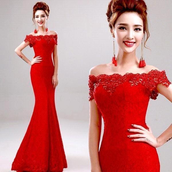 фото красные вечерние платья фото