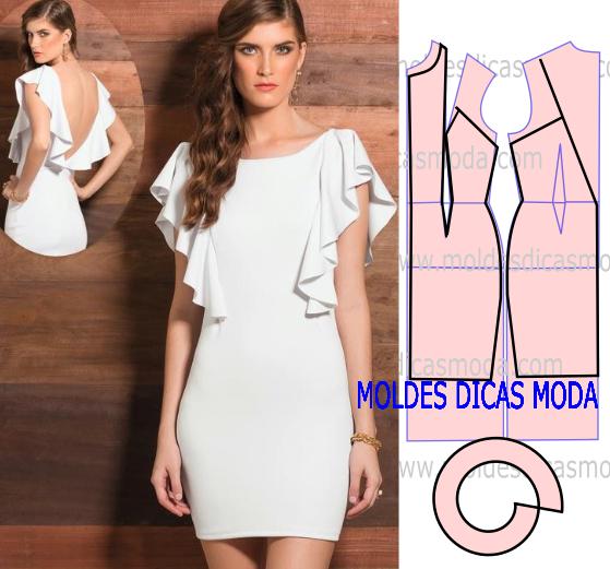 Выкройка платья с рукавами-воланами
