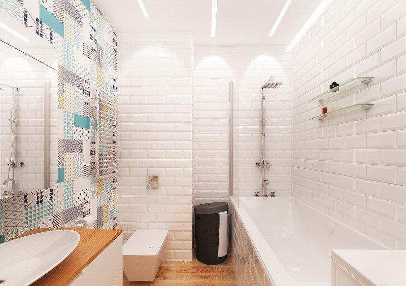 это функциональное дизайн ванны в скандинавском женщин