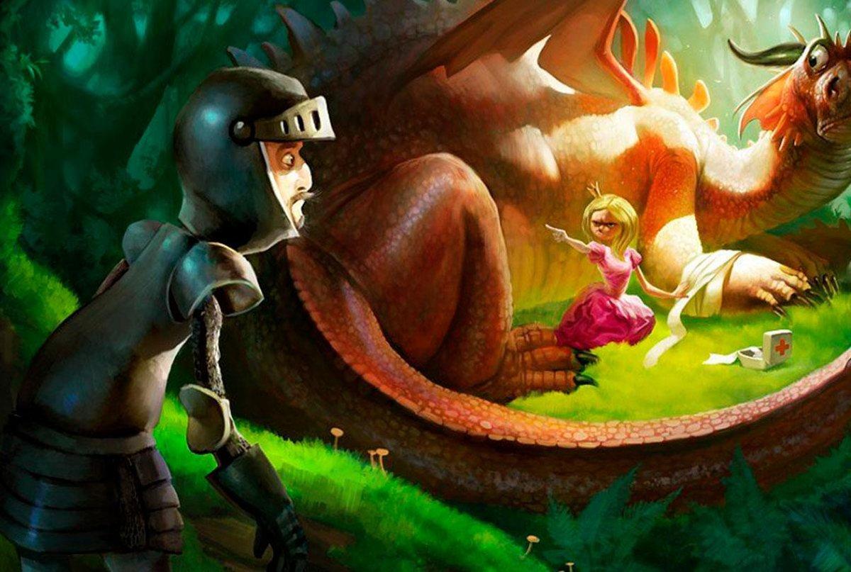 Картинки рыцарь принцесса и дракон