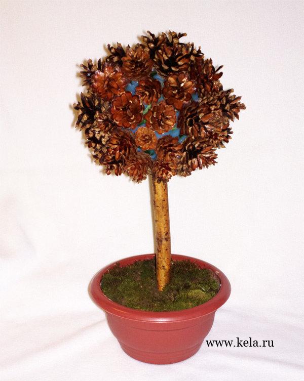 Поделка деревья из природного материала