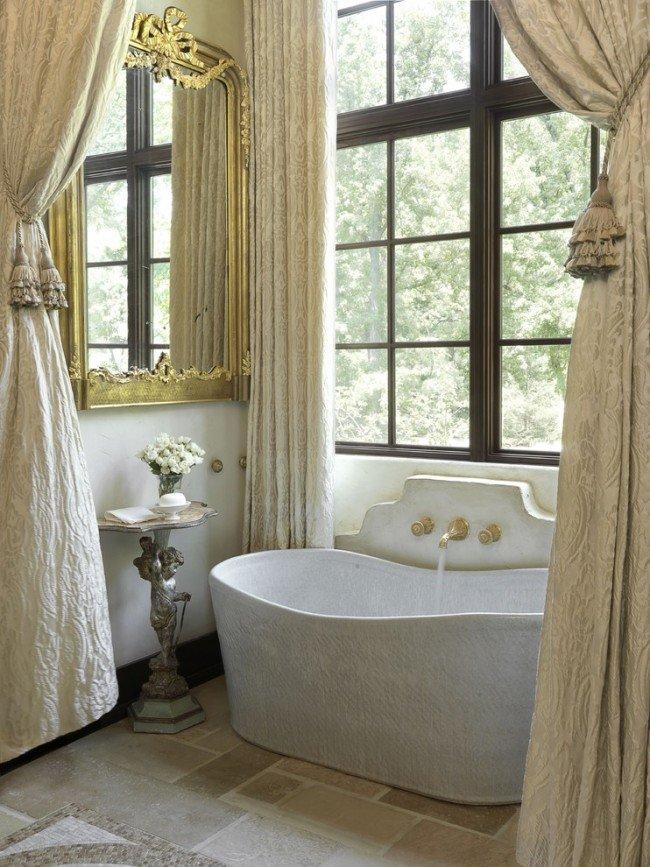 Очарование стиля ампир  в современной ванной комнате