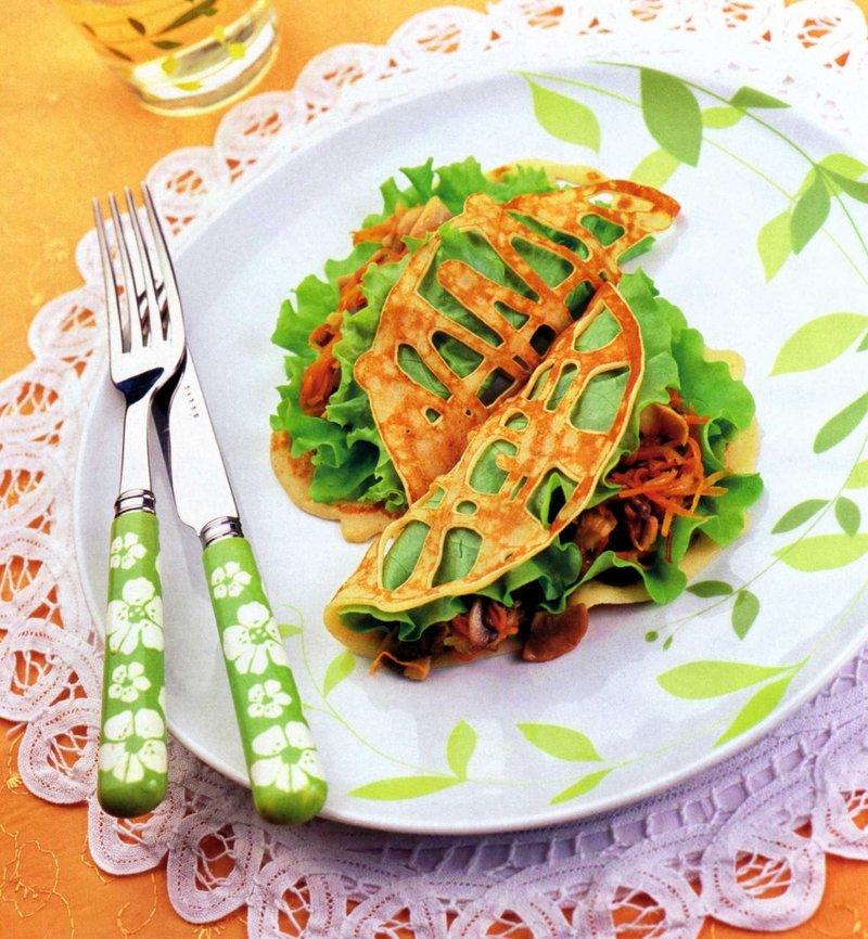 для блинов начинка из салатов фото