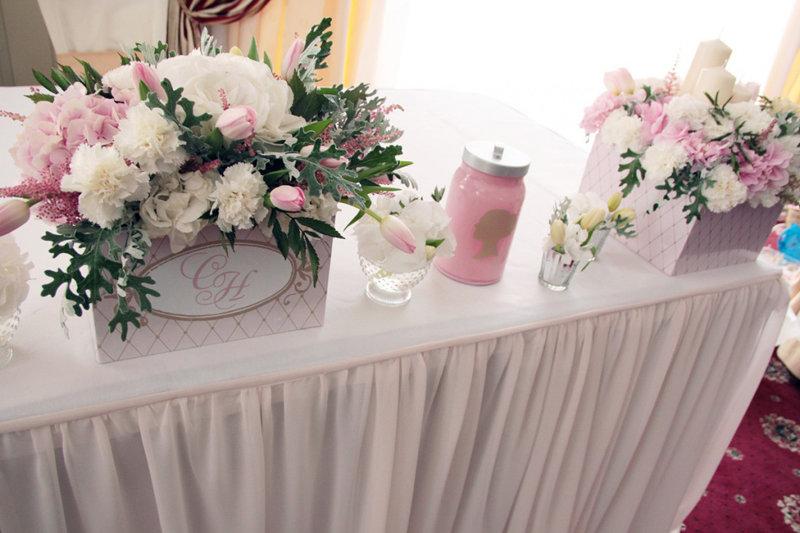 Оформленье свадебного стола цветами фото