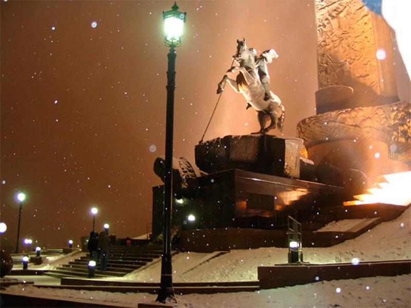 Ледовая Москва в парке Победы