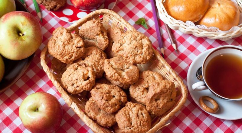 рецепт овсяного печенья с яблоками способ самый креативный
