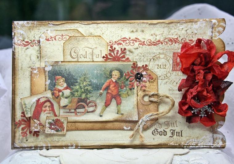 Винтажные рождественские открытки своими руками, фразами девушке