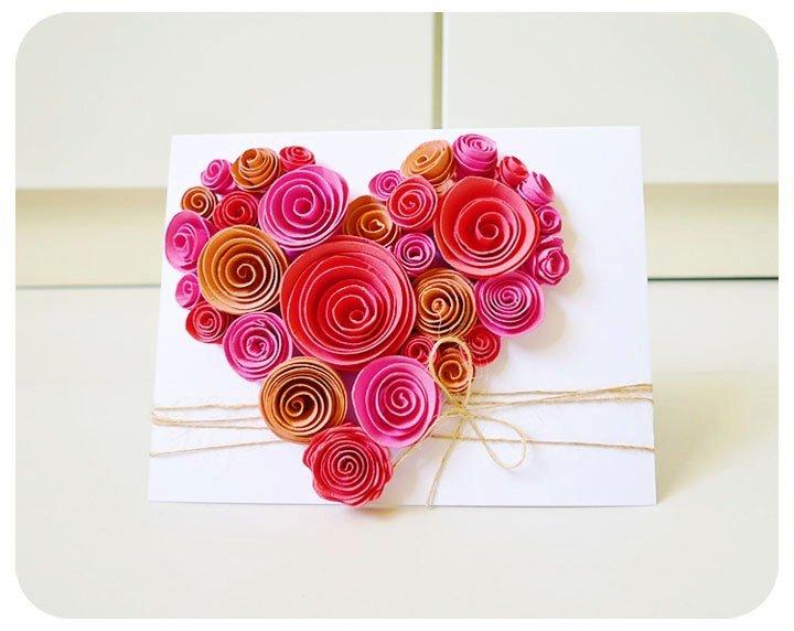 Открытка с розами на день матери своими руками