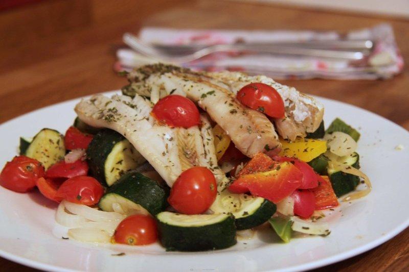 треска овощами рецепты фото