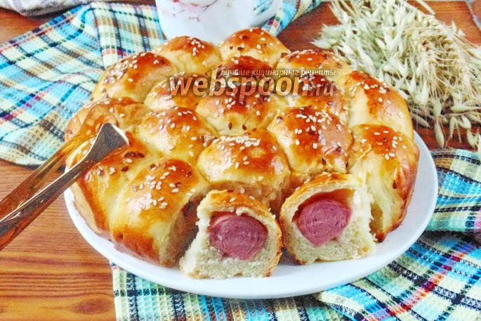 Пирог с сосисками пошаговый рецепт с фото