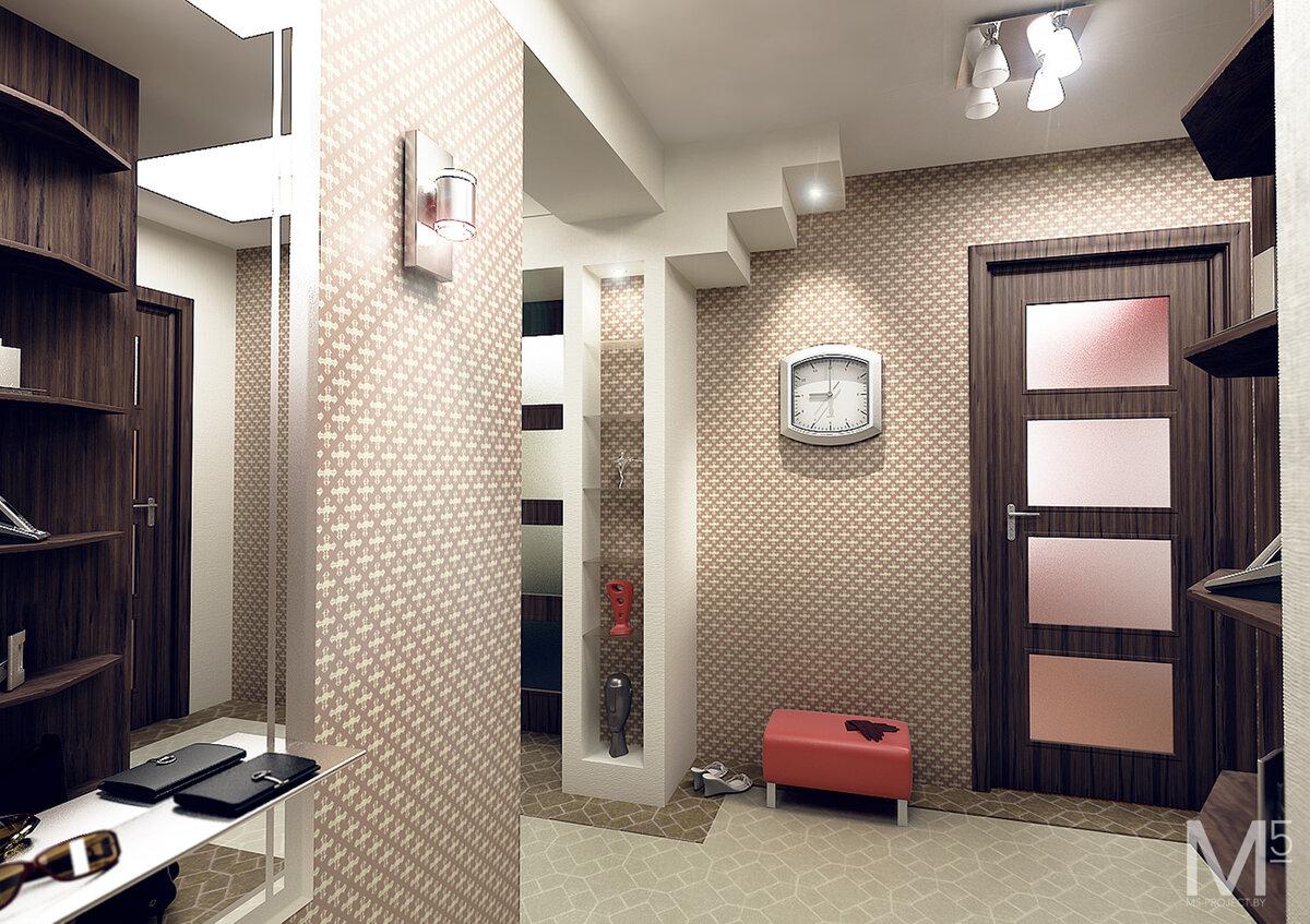 ремонт прихожей в квартире фото с обоями спорят только