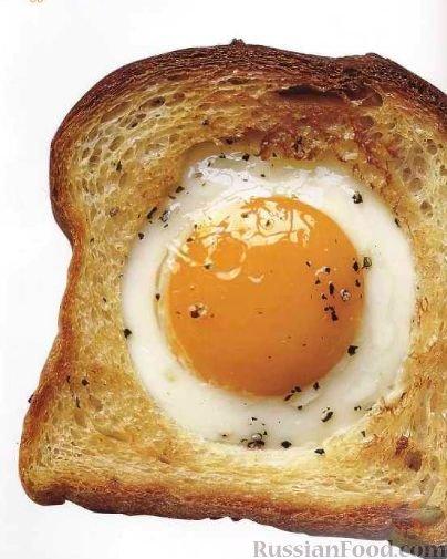 Гренки с яйцом рецепт с фото