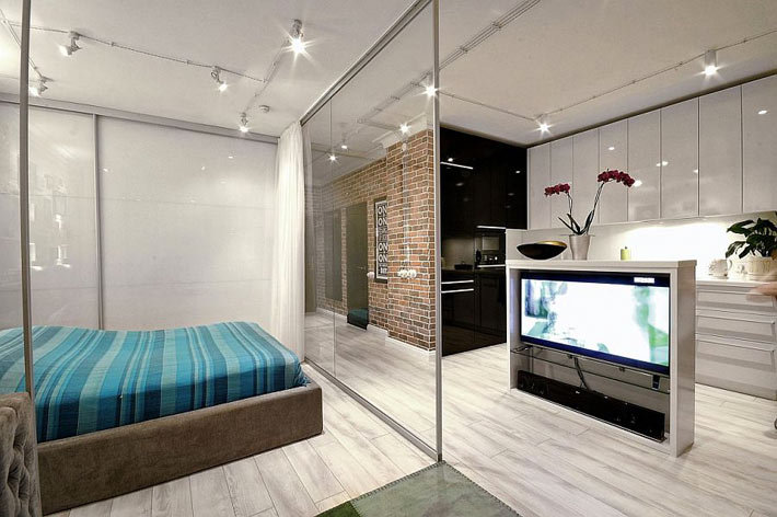 Дизайна интерьера маленькой квартиры-студии