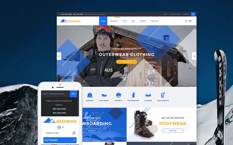 Shopify шаблон интернет-магазина спортивных товаров http://tm.siteria.pro/shopify-themes-type/58030.html