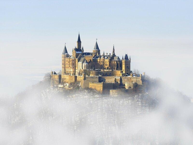 Замок гогенцоллерн в Гогенцоллерн, Германия