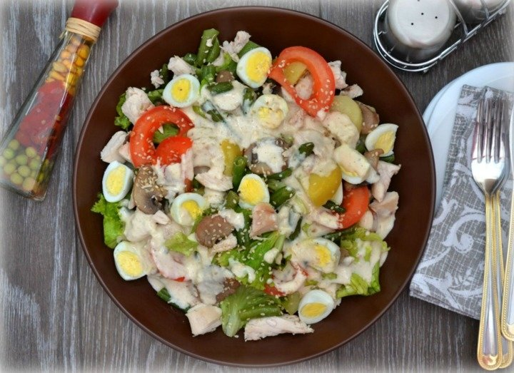 горячие салаты рецепты с фото