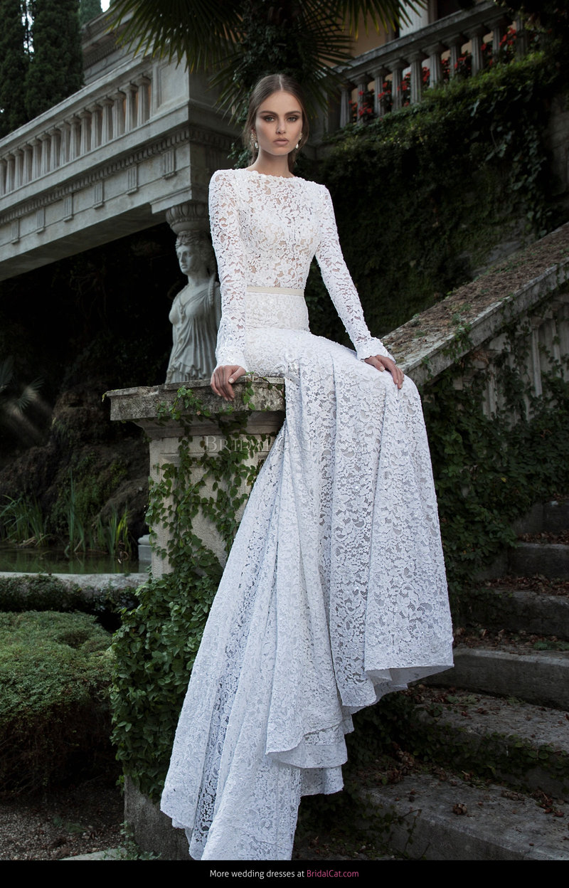 Красивое свадебное платье простое