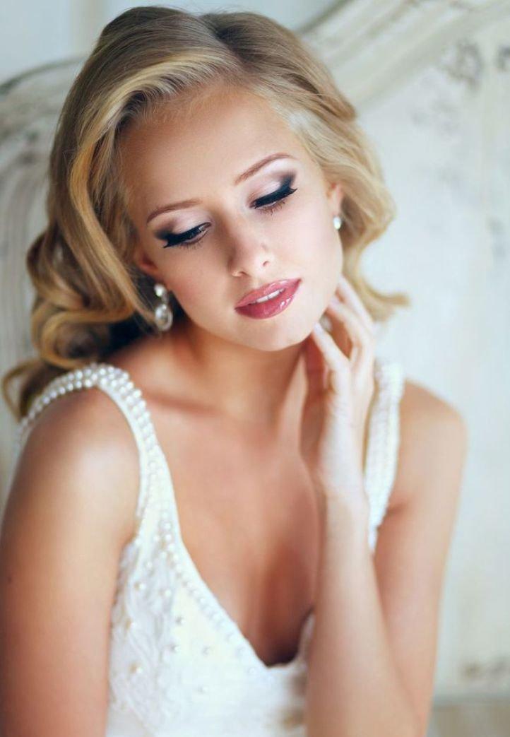 Свадебный макияж - очаровательный свадебный макияж - стрелки