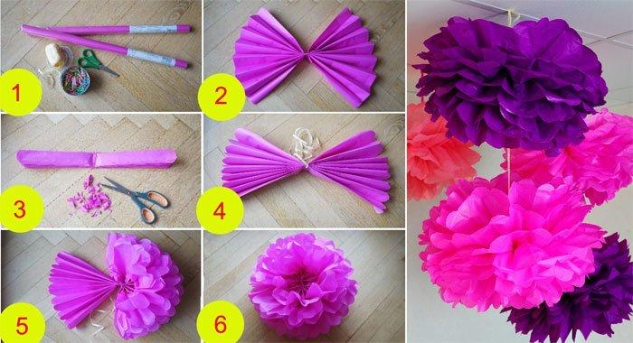 Как сделать объёмный цветок из бумаги своими руками схемы