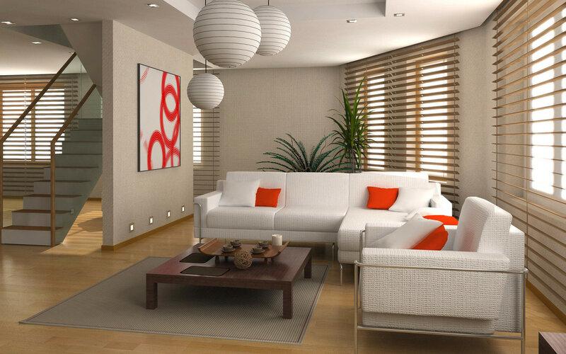 Интерьеры, Скачать Обои и Фото Интерьеры, Интерьер двухэтажных апартаментов,