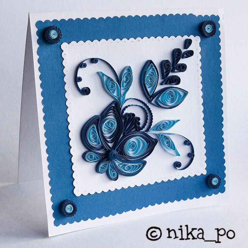 Как сделать открытку в стиле квиллинг на день рождения