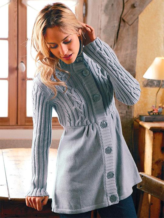 Вязание спицами для женщин. Модные модели по схемам с описанием 29