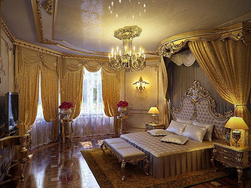 Спальня в стиле ампер  и  барокко