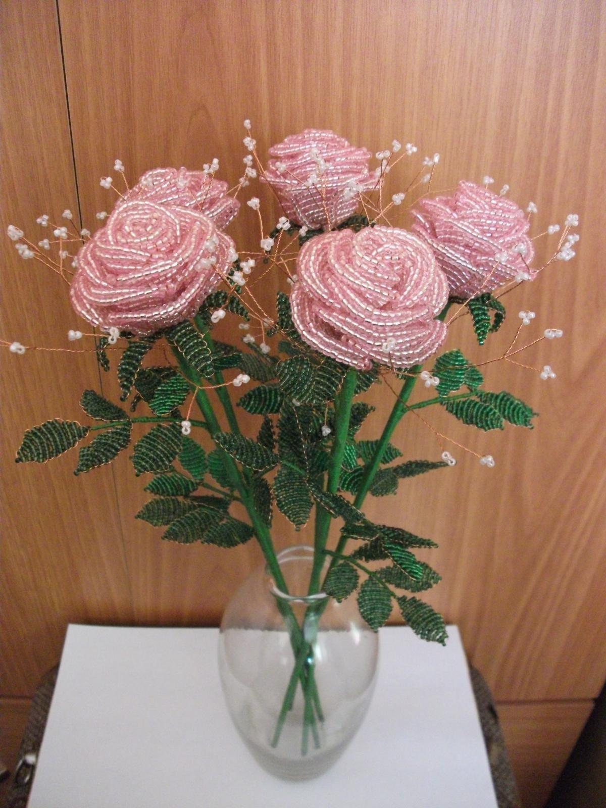 бисероплетение розы мастер класс с пошаговым фото начальном этапе изготовления