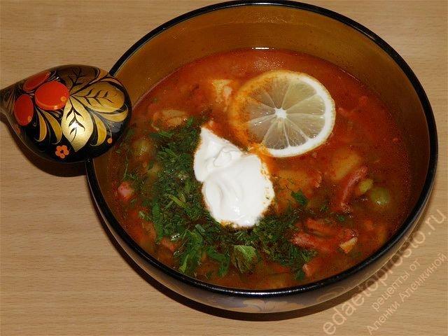 Рецепт и приготовления супа солянка