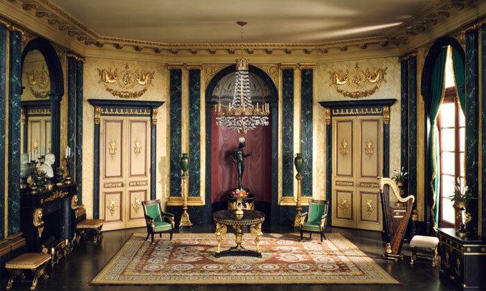 Создаем дизайн интерьера в стиле ампир, где есть ковёр.