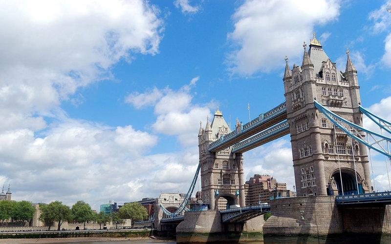 Тауэрский мост в Лондоне.
