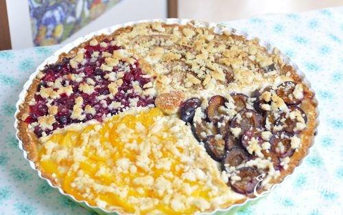 Четырехцветный фруктовый пирог | Кулинарные рецепты от «Едим дома!»