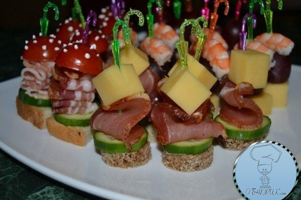 Канапе на день рождения рецепты с фото