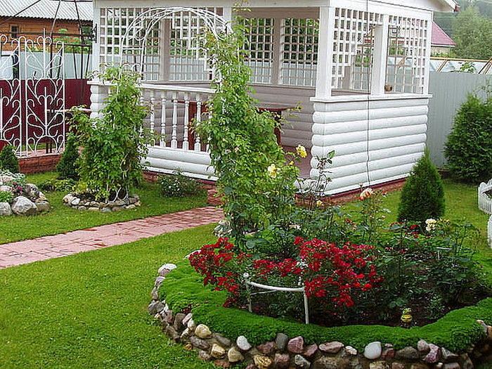 красиво оформленные садовые участки фото помощью